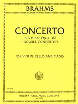 BRAHMS - Concerto in A minor op. 102 Double concerto - Vln, Vc, Po - Partition - di-arezzo.co.uk