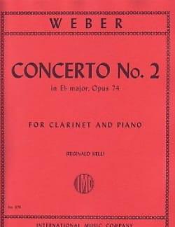 Carl Maria von Weber - Concerto n° 2 Eb major op. 74 -Clarinet piano - Partition - di-arezzo.fr