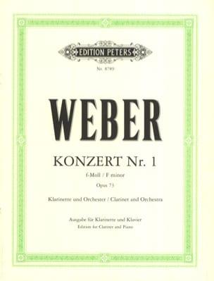 Carl Maria von Weber - Konzert Nr. 1 f-moll op. 73 - Klarinette Klavier - Sheet Music - di-arezzo.co.uk