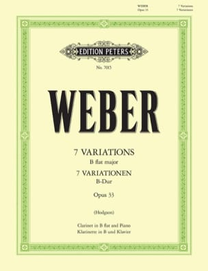 Carl Maria von Weber - 7 Variationen B-Dur op. 33 - Sheet Music - di-arezzo.co.uk