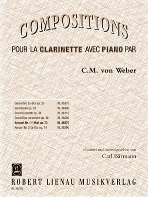 Carl Maria von Weber - Konzert Nr. 1 f-moll op. 73 - Klarinette Klavier - Sheet Music - di-arezzo.com