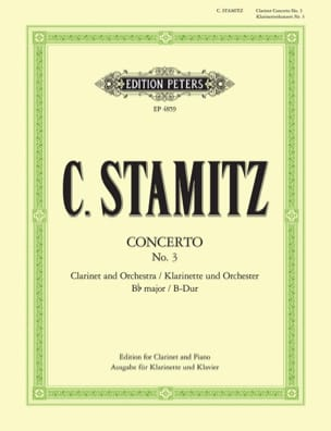 Carl Stamitz - Concerto Nr. 3 B-Dur - Clarinet and Piano - Sheet Music - di-arezzo.co.uk