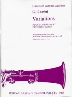Gioacchino Rossini - Variations for clarinet - Sheet Music - di-arezzo.co.uk