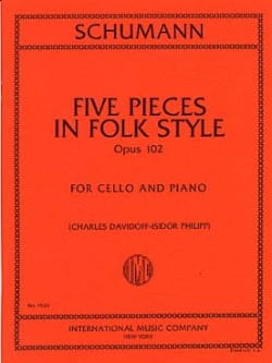 Robert Schumann - 5 Pieces in Folk Style op. 102 - Partition - di-arezzo.fr