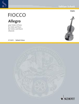 Joseph Hector Fiocco - Allegro - Partition - di-arezzo.fr