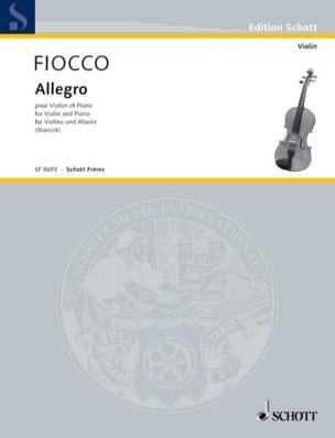 Allegro - Joseph Hector Fiocco - Partition - Violon - laflutedepan.com