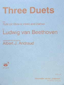 BEETHOVEN - 3 Duets - Flute oboe, violin clarinet - Sheet Music - di-arezzo.co.uk