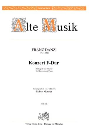 Franz Danzi - Konzert In F-Dur - Partition - di-arezzo.fr