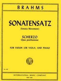Johannes Brahms - Sonatensatz – Viola - Partition - di-arezzo.fr