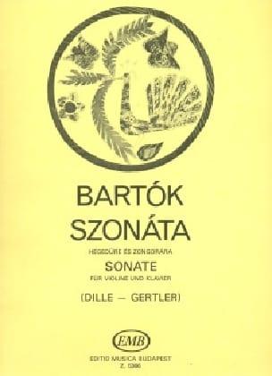 Sonate für Violine und Klavier BARTOK Partition Violon - laflutedepan
