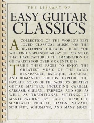 - The library of easy guitar classics - Partition - di-arezzo.fr