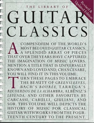 - Library of Guitar classics - Partition - di-arezzo.fr