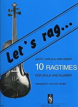 Joplin Scott / Heger Uwe - Let's Rag - 10 Ragtimes - Viola - Partition - di-arezzo.fr