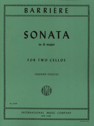 Jean Barrière - Sonata in G Major - 2 Cellos - Sheet Music - di-arezzo.co.uk