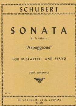 Sonata in A minor Arpeggione - Clarinet SCHUBERT laflutedepan