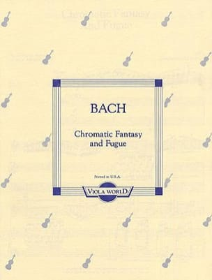 Chromatic Fantasy and Fugue - Viola - BACH - laflutedepan.com