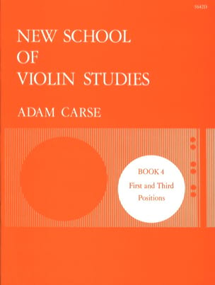 Adam Carse - New school of violin studies - Volume 4 - Sheet Music - di-arezzo.com