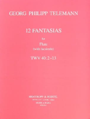 TELEMANN - 12 Fantasias - Flute solo with Fac-Simile - Partition - di-arezzo.fr