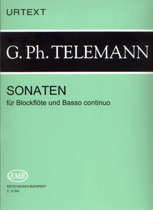 TELEMANN - Sonaten - Blockflöten u. Bc - Sheet Music - di-arezzo.co.uk