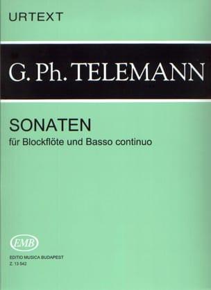 Georg Philipp Telemann - Sonaten –Blockflöten u. Bc - Partition - di-arezzo.fr