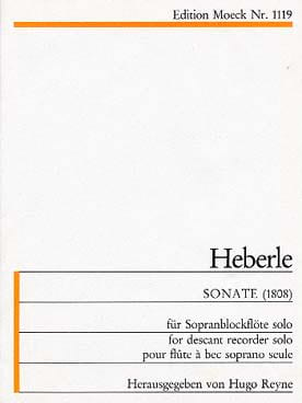 Anton Heberle - Sonate 1808) - Sopranblockflöte - Partition - di-arezzo.fr