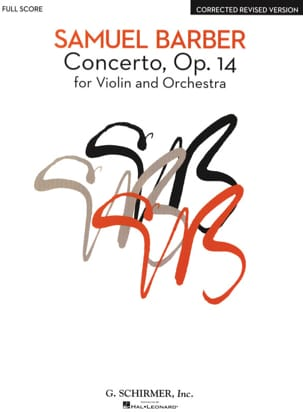 Samuel Barber - Violin Concerto and Orchestra Op. 14 - Sheet Music - di-arezzo.co.uk