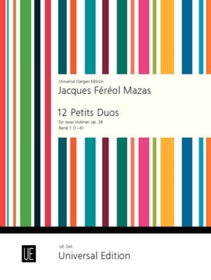 MAZAS - 12 Small Duets Op. 38 Volume 1 - Partition - di-arezzo.co.uk