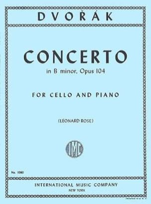 DVORAK - Cello Concerto For Minor, Op. 104 - Sheet Music - di-arezzo.co.uk