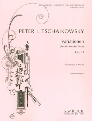 TCHAIKOVSKY - Variationen über ein Rokoko-Thema op. 33 - Sheet Music - di-arezzo.co.uk