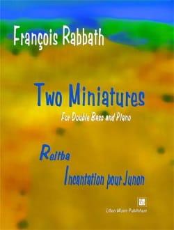 Two Miniatures François Rabbath Partition Contrebasse - laflutedepan