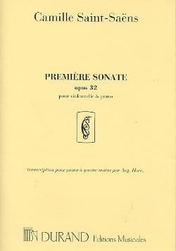 Camille Saint-Saëns - Sonata No. 1 op. 32 - Sheet Music - di-arezzo.co.uk