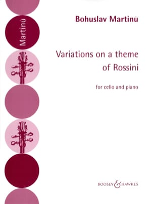 Bohuslav Martinu - Variations on a theme of Rossini - Sheet Music - di-arezzo.com