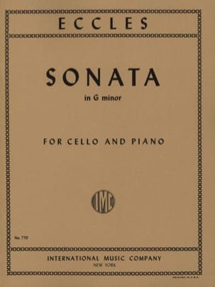 Henry Eccles - Sonata in G Minor - Violoncelle - Partition - di-arezzo.fr