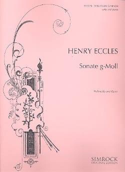 Henry Eccles - Sonata in G minor - Cello - Sheet Music - di-arezzo.co.uk