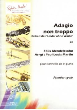 Adagio non Troppo MENDELSSOHN Partition Clarinette - laflutedepan