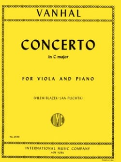 Johann Baptist Vanhal - Concerto in C Major - Viola - Sheet Music - di-arezzo.com