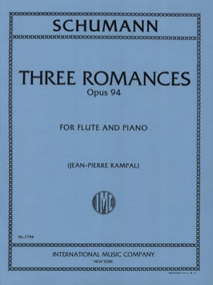 SCHUMANN - 3 Romances op. 94 - Piano flute - Sheet Music - di-arezzo.co.uk