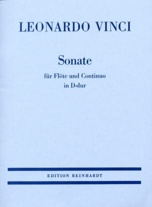 Leonardo Vinci - Sonata in D Major - flute and basso continuo - Sheet Music - di-arezzo.co.uk