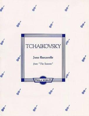 Piotr Illitch Tchaïkovski - June Barcarolle op. 37 n° 6 – Viola - Partition - di-arezzo.fr