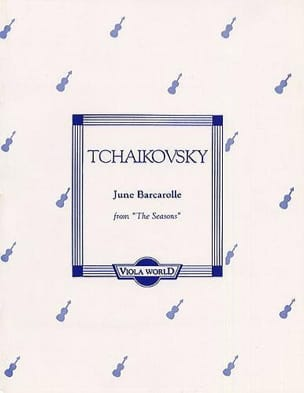 TCHAIKOVSKY - June Barcarolle op. 37 n ° 6 - Viola - Sheet Music - di-arezzo.com