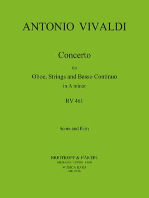Concerto in A minor RV 461 - Oboe strings Bc VIVALDI laflutedepan