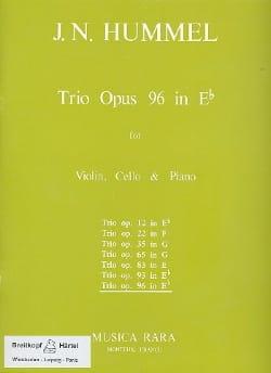 Trio op. 96 in Eb -Parts HUMMEL Partition Trios - laflutedepan