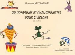 Alexandre Metratone - 20 Comptines et Chansonnettes pour 2 violons - Partition - di-arezzo.fr