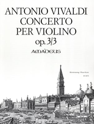 VIVALDI - Concerto Per Violino Opus 3 N ° 3 - Partition - di-arezzo.com