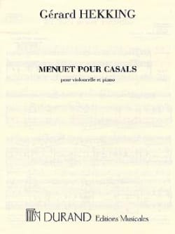 Gérard Hekking - Menuet for Casals - Sheet Music - di-arezzo.com