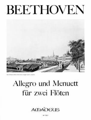 Allegro und Menuet - 2 Flöten BEETHOVEN Partition laflutedepan