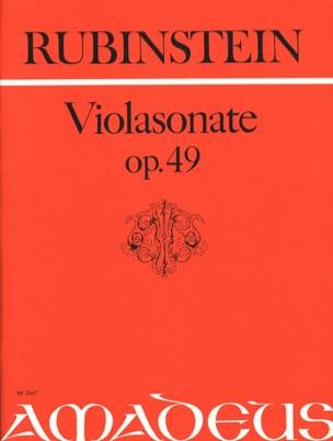 Violasonate Op. 49 Anton Rubinstein Partition Alto - laflutedepan