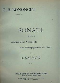 Sonate en la mineur - Giovanni Battista Bononcini - laflutedepan.com