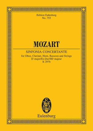MOZART - Sinfonia Concertante Es-Dur Kv 297b - Partitur - Sheet Music - di-arezzo.co.uk