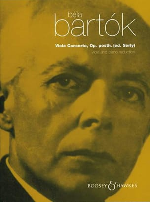 BARTOK - Viola Concerto op. posth to. Serly - Sheet Music - di-arezzo.co.uk